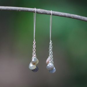 Barton Designs Sapphire Cascade Earrings