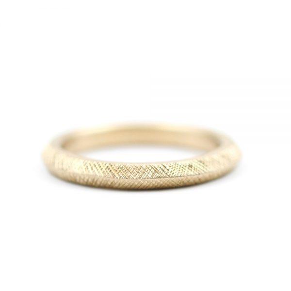Barton Designs Hand Textured Gold Band