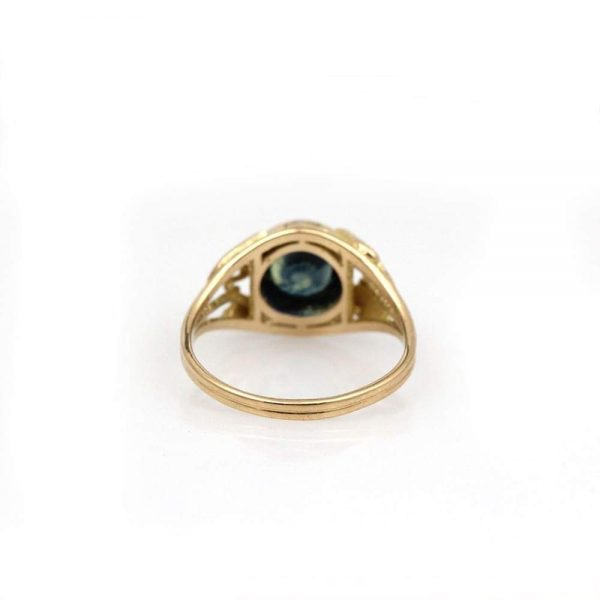 "Arte*Vitta Parti-color Sapphire ""Secret Garden"" Victorian Revival Ring"