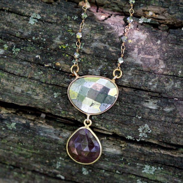Barton Designs Ruby and Hematite Necklace