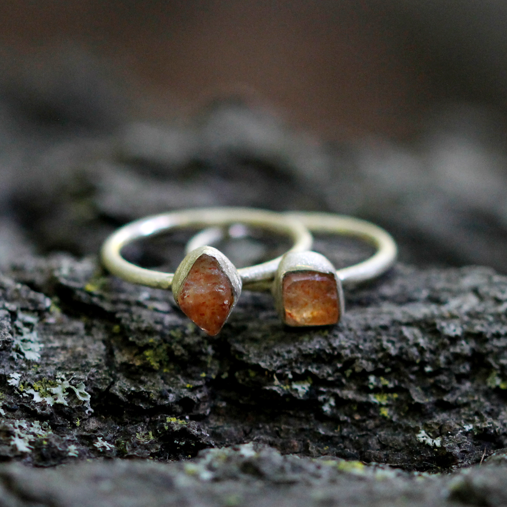 Barton Designs Raw Sunstone Ring