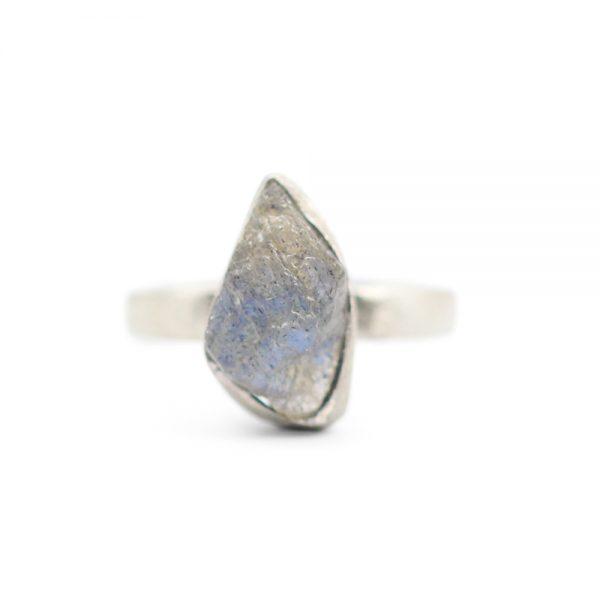 Barton Designs Sterling Silver Rough Labradorite Solitaire