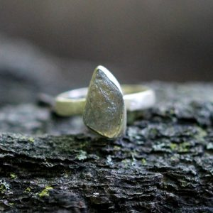 Barton Designs Sterling Silver Rough Labradorite Solitaire
