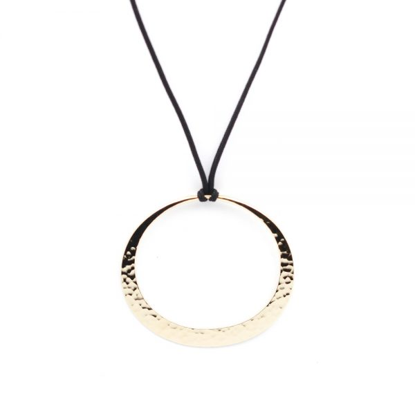 Toby Pomeroy 14K Yellow Gold 55mm Eclipse Pendant