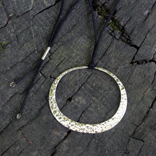 Toby Pomeroy 14K White Gold 55mm Eclipse Pendant