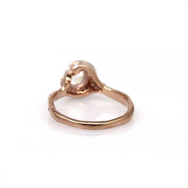 Pippa Jayne Designs Crescent Night Moonstone + Diamond Ring