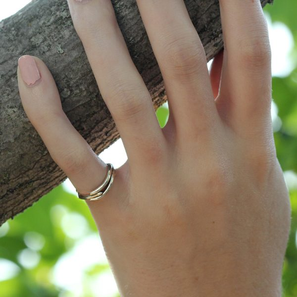 Pippa Jayne Designs 14K White Gold Vines Ring