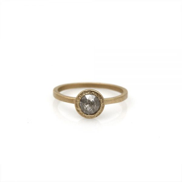 Pippa Jayne Designs Vega Rose Rustic Diamond Engagement Ring