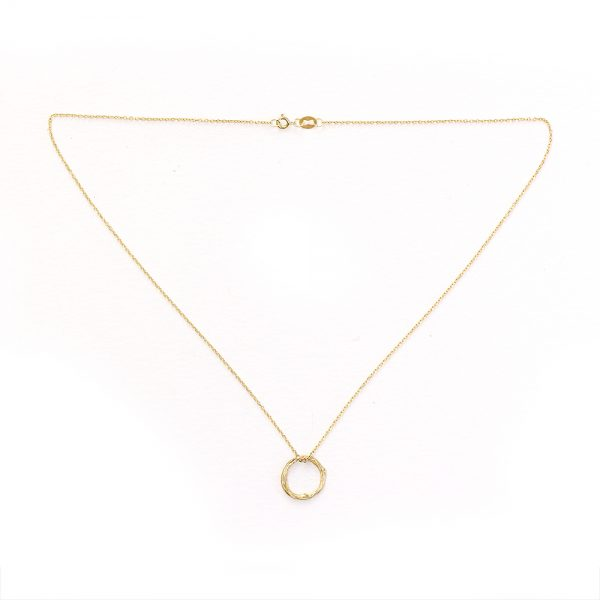 Pippa Jayne Designs 14K Yellow Gold Infinity Tiny Twig Necklace