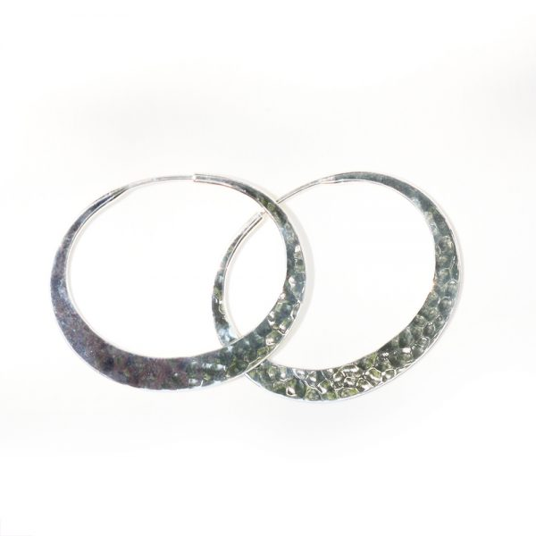 Toby Pomeroy Eco Silver 32mm Eclipse Hoops