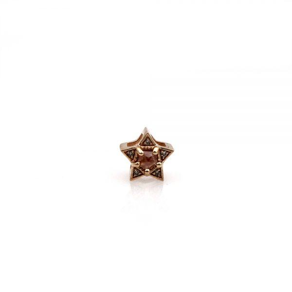 Arte*Vitta 18K Rose Gold Shooting Star Slide Pendant