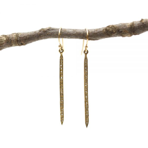 Barton Designs Diamond Bar Earrings