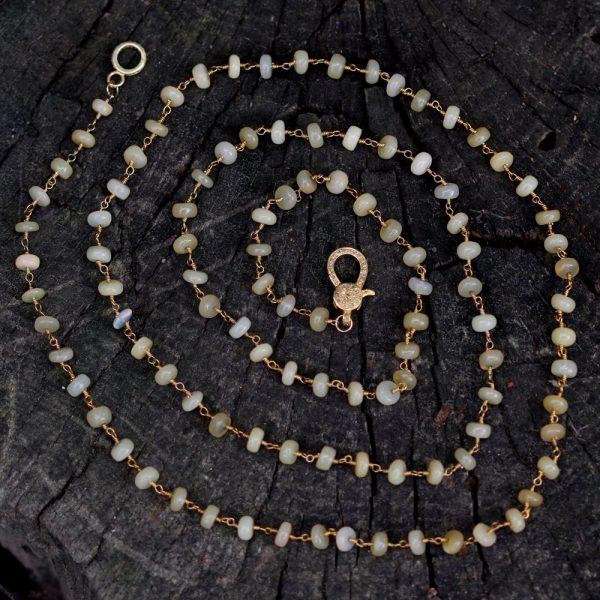 Barton Designs Opal and Diamond Necklace