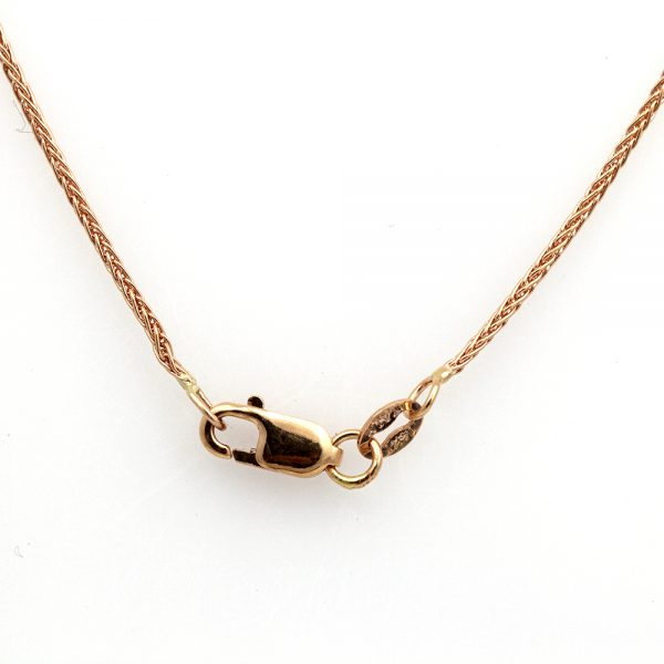 "14K Rose Gold 18"" Wheat Chain"